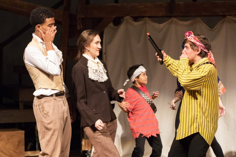 Sumner School students perform in the fall Upper School production of Candide. Photo by Bill Jacob.