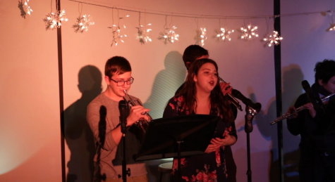 Students perform at least years Coffee House. Photo by Michelle Levinger 19.