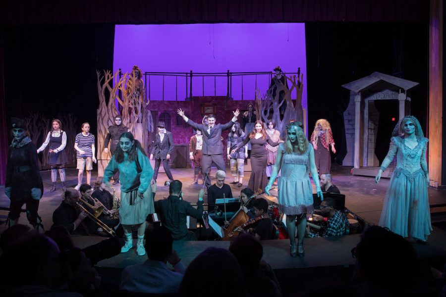 The+cast+of+The+Addams+Family+performs+a+musical+number.+Photo+by+David+Barron.