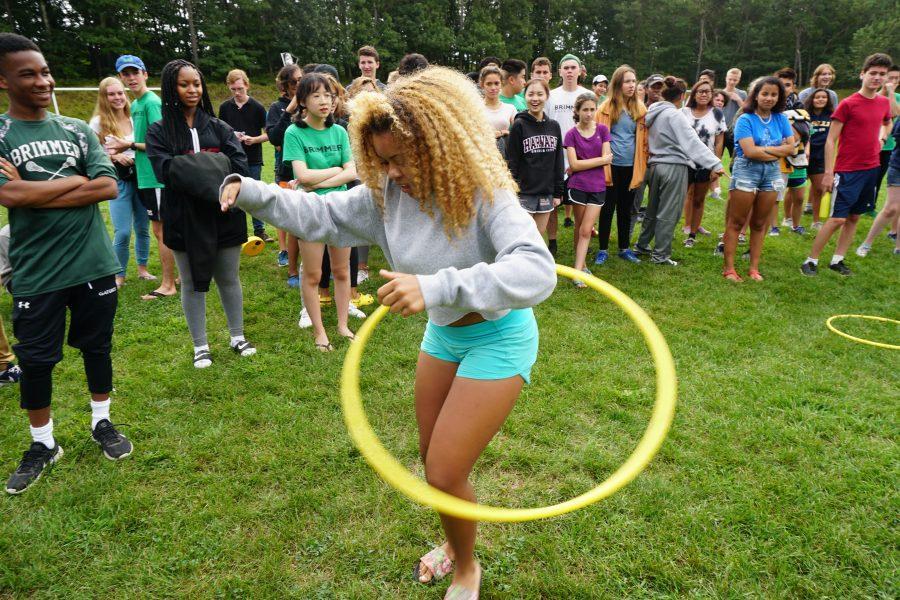 Sade Latinwo 19 showing off her skill. Photo by David Cutler.