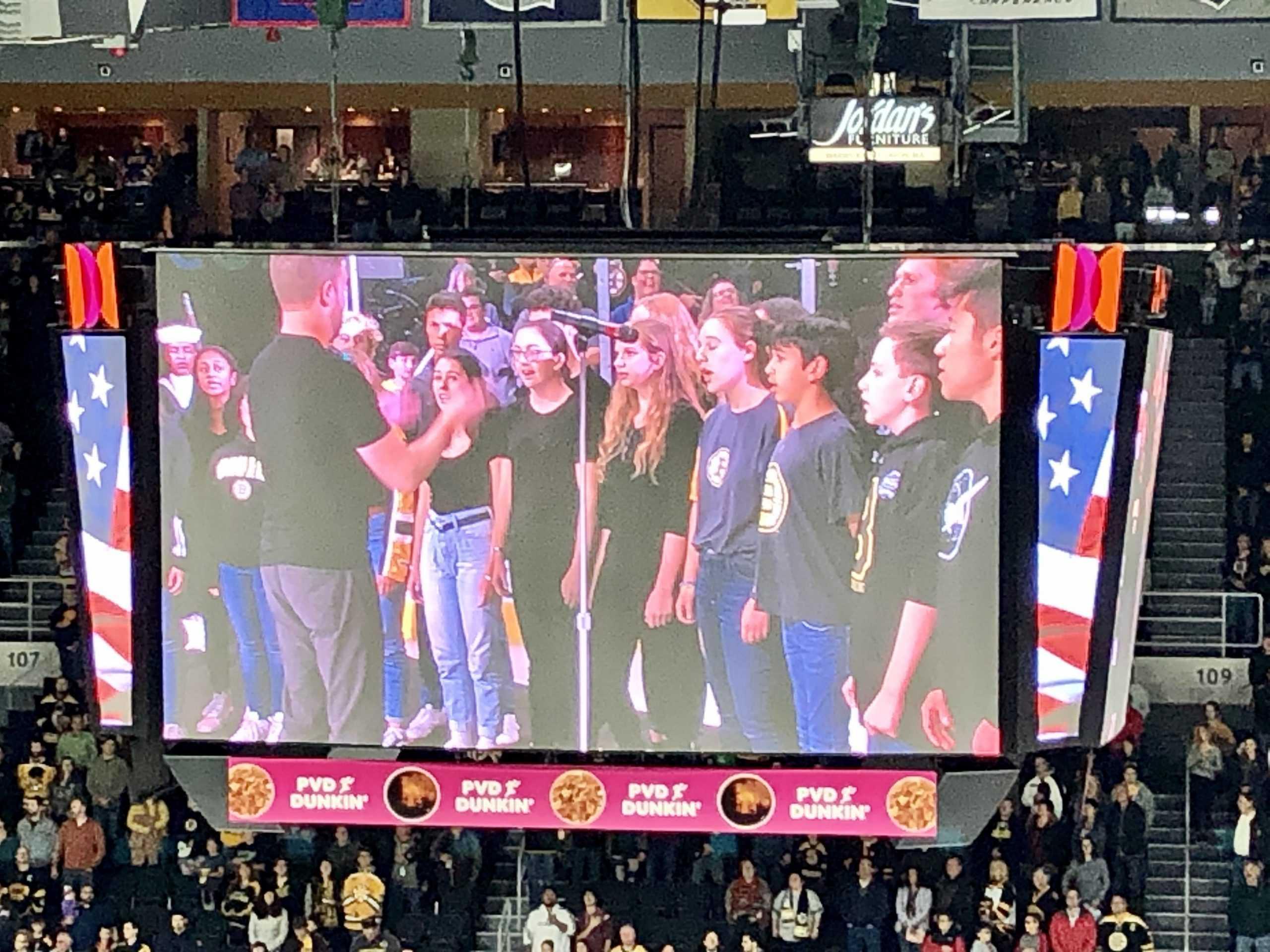 The+choir+sang+America%2C+the+Beautiful.+