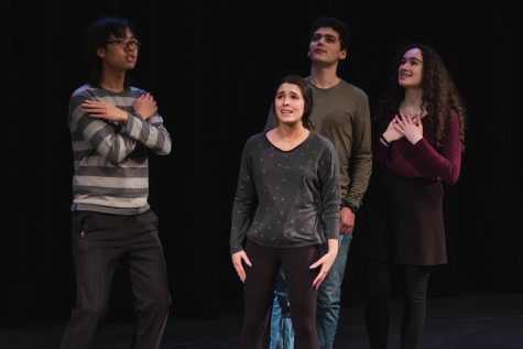 The Musical Theatre class poses in their group number, Security Meltdown from Calvin Berger (2006).
