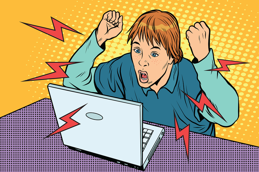 illustration+of+student+confused+and+frustrated+with+online+learning.+Image+purchased+from+BigStock.com.++