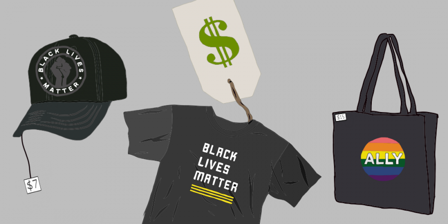 Black Lives Matter and Pride apparel for sale. Digital Illustration by Edan Zinn 23.