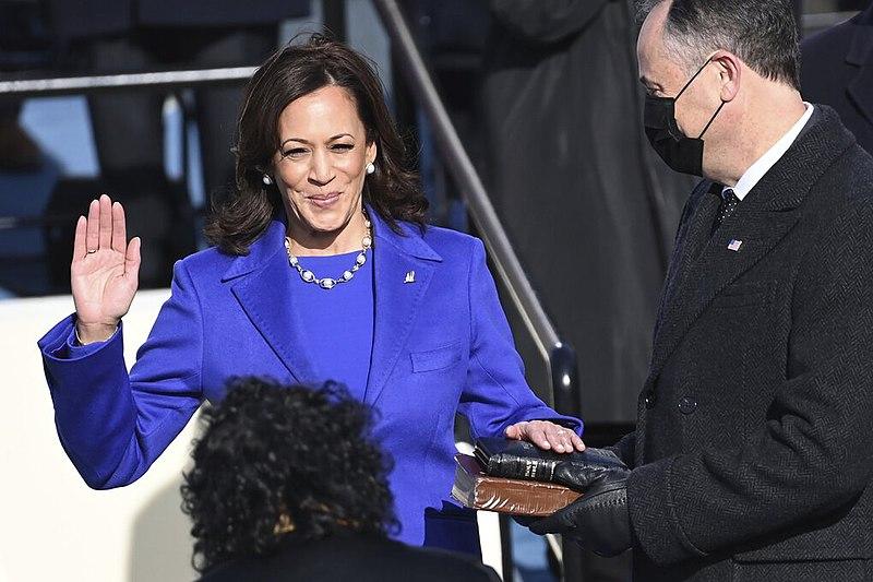 Kamala Harris oath of office. Photo courtesy of Wikimedia Commons.