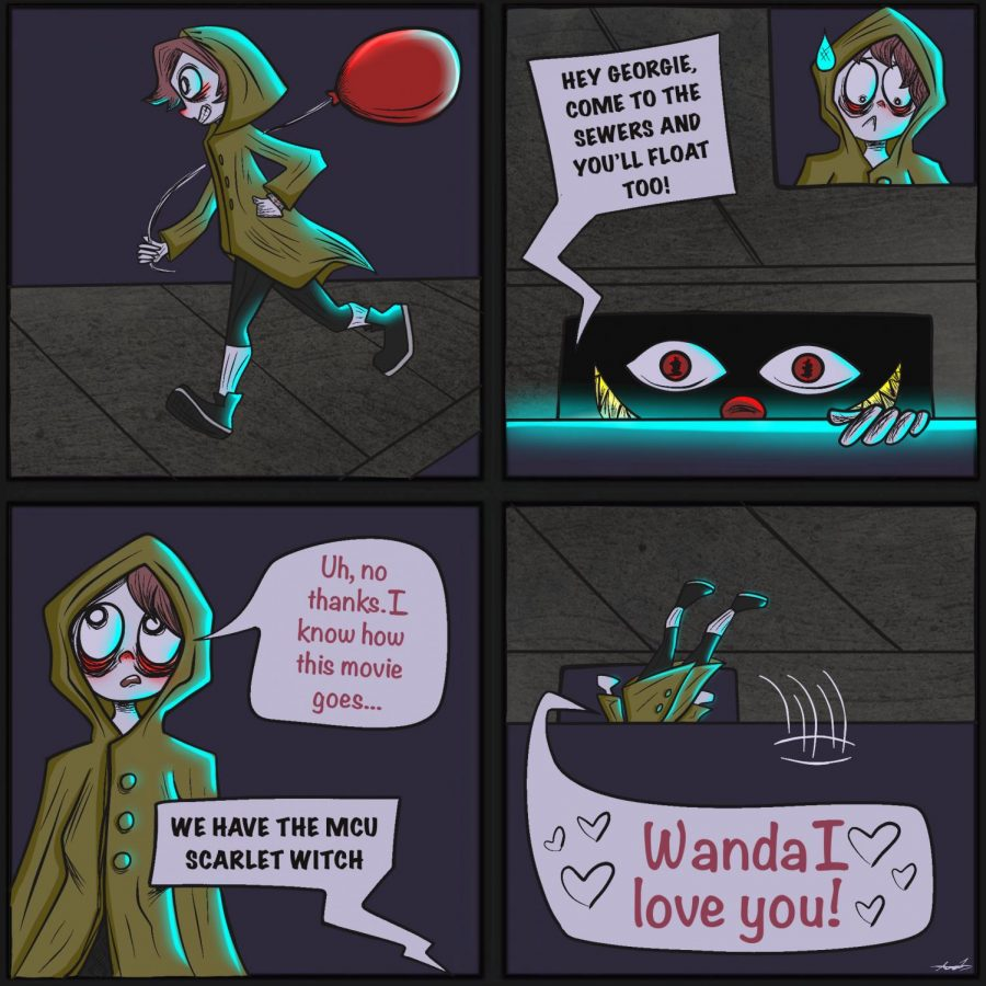 Scarlet Witch cartoon by Ava Lockhart 21.