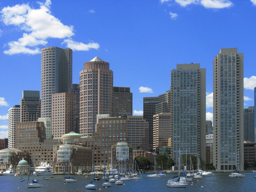 The Boston skyline has seen many changes over previous decade.  Creative Commons from Wikipedia, Sharealike License.