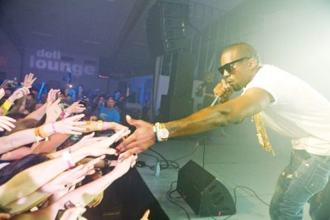 Kanye West performs for fans in 2009. Photo courtesy of Wikimedia Commons.
