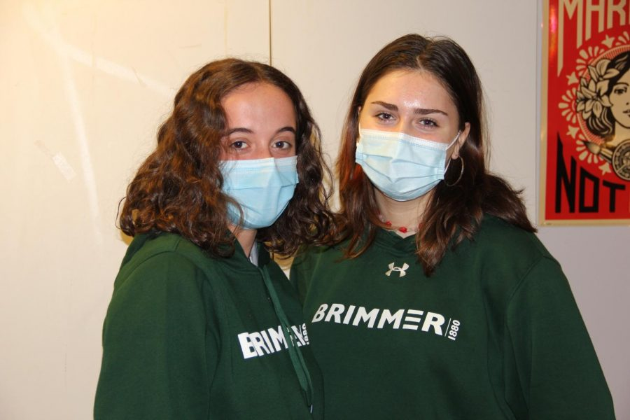 Libby Barker-Hook 23 and Luccia Corral Saborido 22 show off their School spirit.