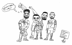 Comic: Lakers to Retire Soon